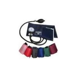 Esfigomomanômetro Braçadeira Colorida em Velcro + Estetoscópio Simples
