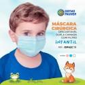Máscaras Cirúrgicas Tripla Descartável INFANTIL AZUL