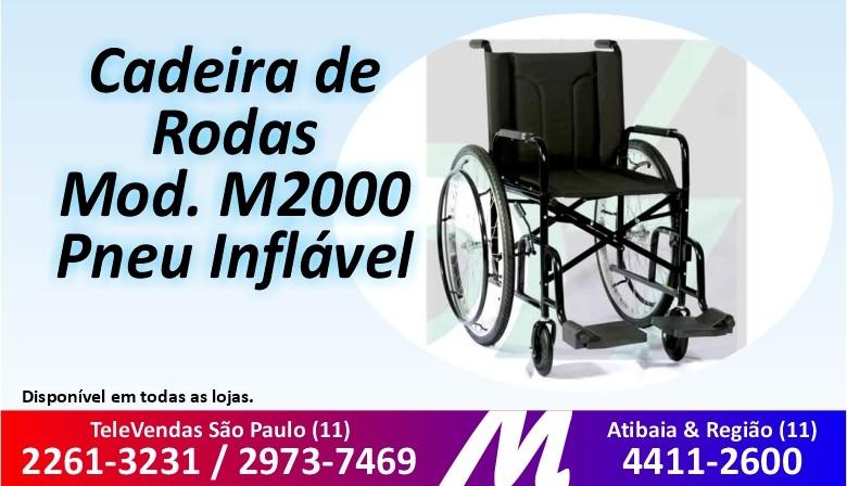 Cadeira De Rodas Mod M2000 Pneu Inflável