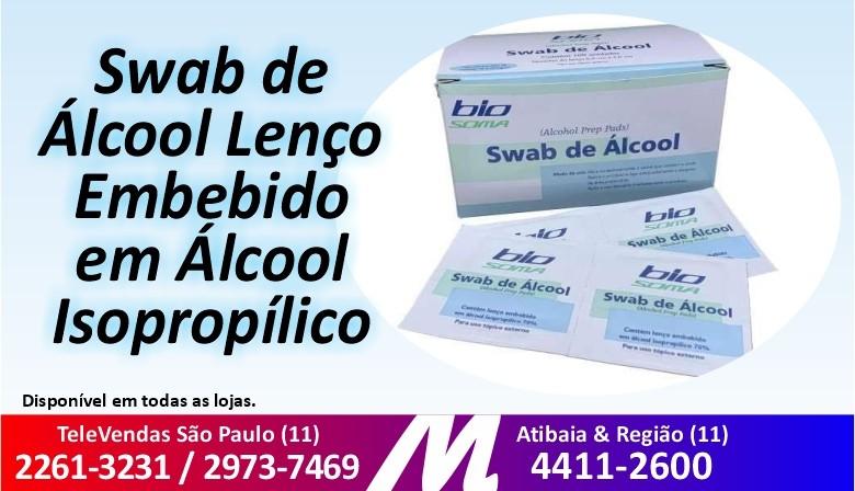 Swab de Álcool Lenço Embebido Em Álcool Isopropílico